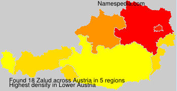 Surname Zalud in Austria