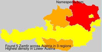 Surname Zamfir in Austria