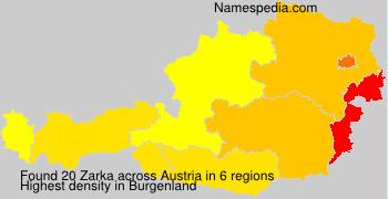 Surname Zarka in Austria