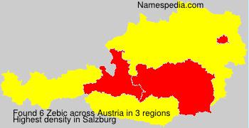 Surname Zebic in Austria