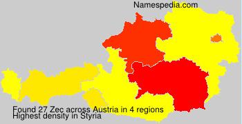 Surname Zec in Austria