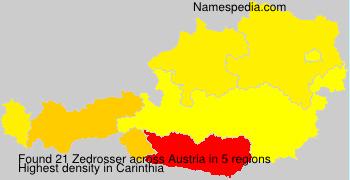 Surname Zedrosser in Austria