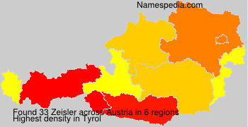 Surname Zeisler in Austria