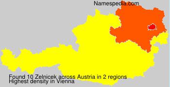 Surname Zelnicek in Austria
