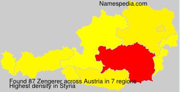 Surname Zengerer in Austria