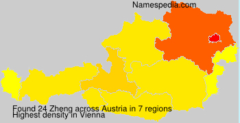 Surname Zheng in Austria