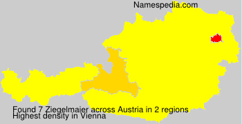 Surname Ziegelmaier in Austria