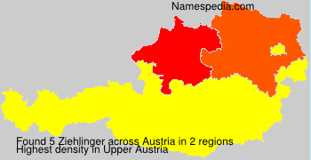 Surname Ziehlinger in Austria