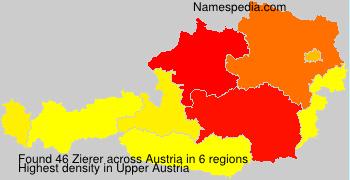 Familiennamen Zierer - Austria