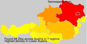 Familiennamen Zika - Austria