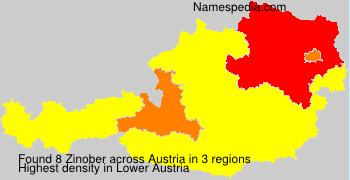 Surname Zinober in Austria