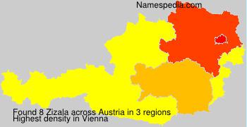 Surname Zizala in Austria