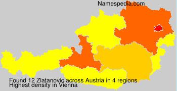Familiennamen Zlatanovic - Austria