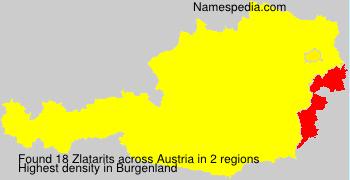 Familiennamen Zlatarits - Austria