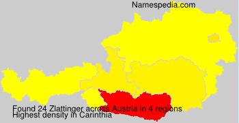 Familiennamen Zlattinger - Austria
