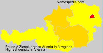 Familiennamen Zlesak - Austria