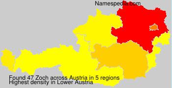 Surname Zoch in Austria