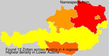 Surname Zoltan in Austria