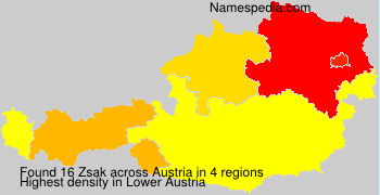Surname Zsak in Austria