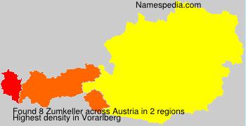 Surname Zumkeller in Austria