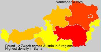 Surname Zwach in Austria