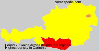 Surname Zwainz in Austria