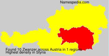 Surname Zwanzer in Austria