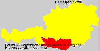 Surname Zwattendorfer in Austria