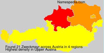 Surname Zweckmayr in Austria