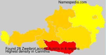 Surname Zweibrot in Austria