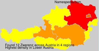 Surname Zwerenz in Austria