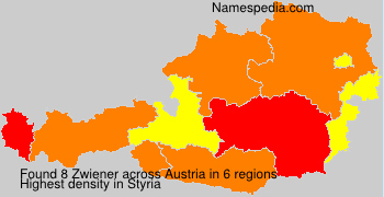 Surname Zwiener in Austria