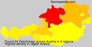 Surname Zwirchmayr in Austria