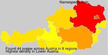 Surname poppe in Austria