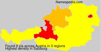Surname zia in Austria