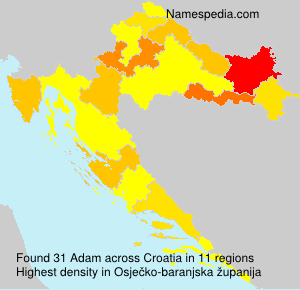 Surname Adam in Croatia