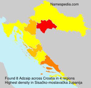 Surname Adzaip in Croatia