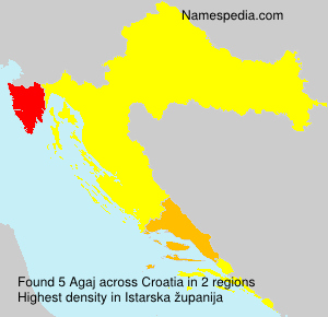 Surname Agaj in Croatia