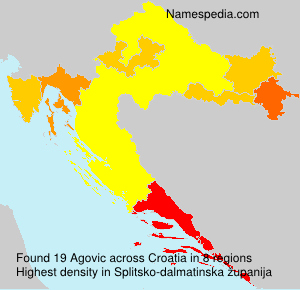 Surname Agovic in Croatia