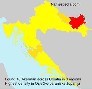 Surname Akerman in Croatia