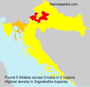 Surname Altabas in Croatia