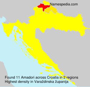 Familiennamen Amadori - Croatia