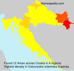 Surname Aman in Croatia