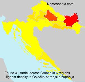 Familiennamen Andal - Croatia