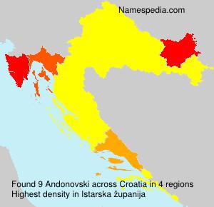 Surname Andonovski in Croatia