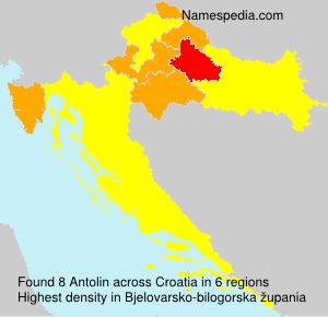 Familiennamen Antolin - Croatia