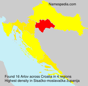 Surname Arlov in Croatia