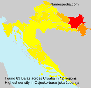Surname Balaz in Croatia