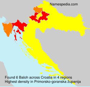 Familiennamen Baloh - Croatia