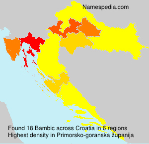 Surname Bambic in Croatia
